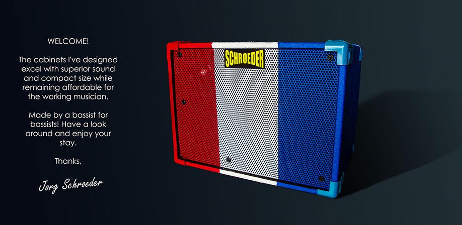 Wonderful Schroeder Cabinets. Hand Built Bass Cabinets.